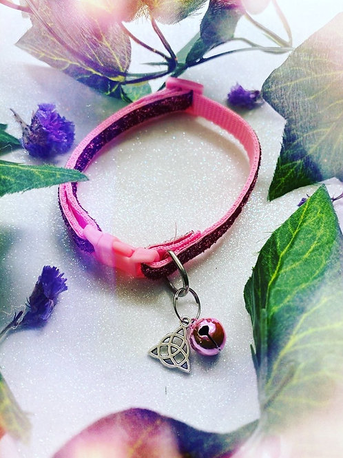 Triquetra Witches Familiar Collar-Pink