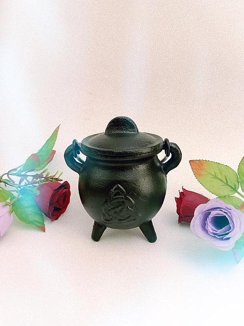 Small Cast Iron Triquetra Cauldron