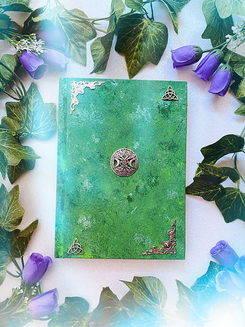 Witch Goddess Book of Shadows - Green