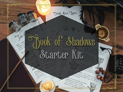 Hand Drawn Book of Shadows Pages (Digital Download)