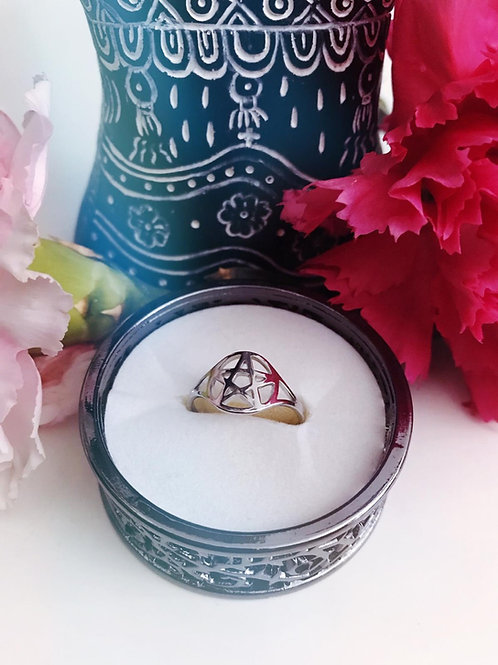 Pentacle Stainless Steel Ring