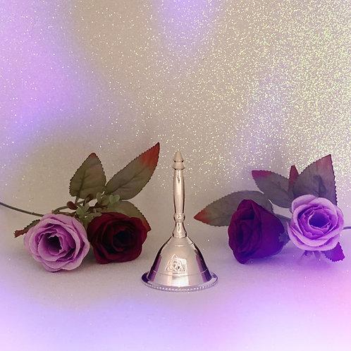 Silver Triquetra Mini Altar Bell