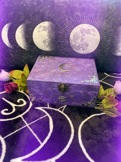 Purple Celtic Moon Altar Box