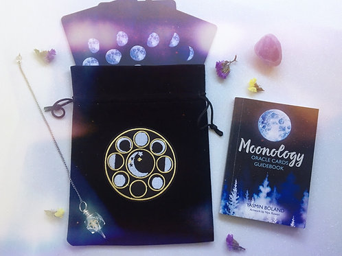 Black Moon Phase Tarot Bag