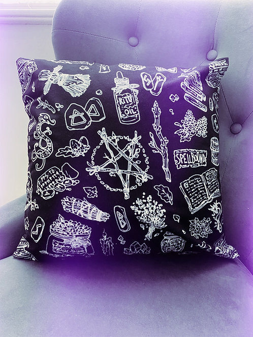 Pagan Witch Cushion Cover