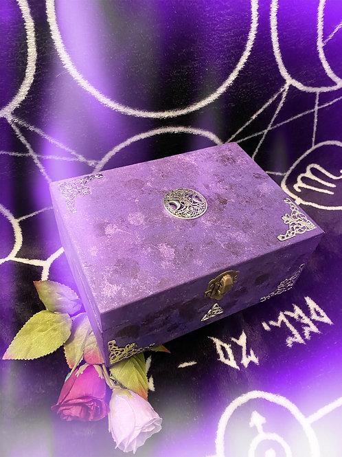 Purple Witch Goddess Altar Box