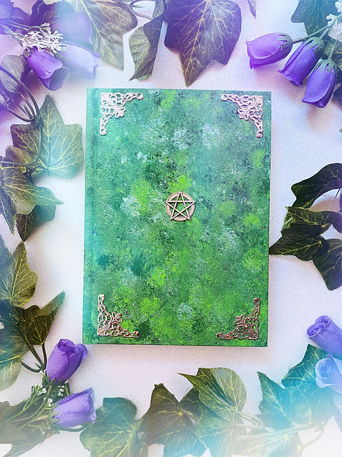 Pentacle Book of Shadows - Green