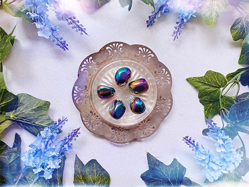 Rainbow Aura Quartz Tumble Stone