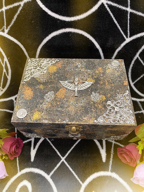 Black & Metallic Egyptian Witch Altar Box