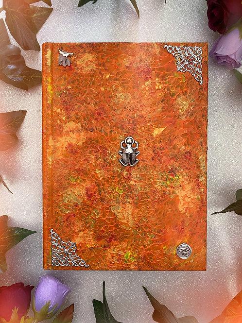 Custom order for Isabelle- Egyptian Book of Shadows - Orange