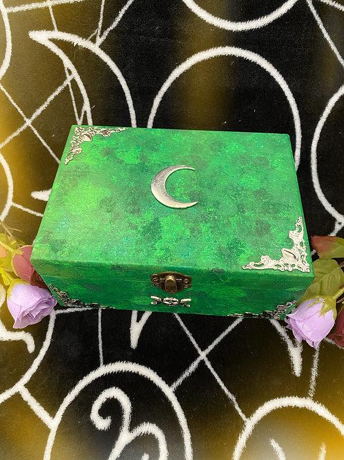 Green Lunar Witch Altar Box