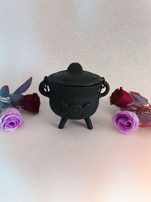 Small Cast Iron Triple Goddess Cauldron