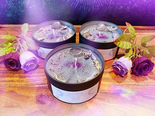 Dark Moon Crystal Candle