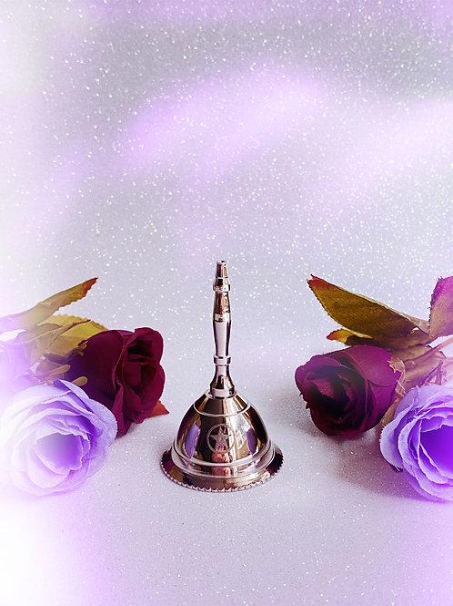 Silver Pentacle Mini Altar Bell