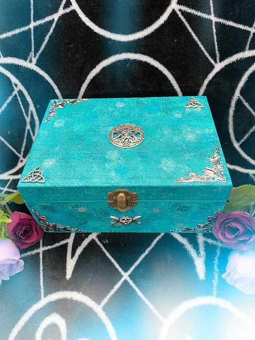 Aqua Witch Goddess Altar Box