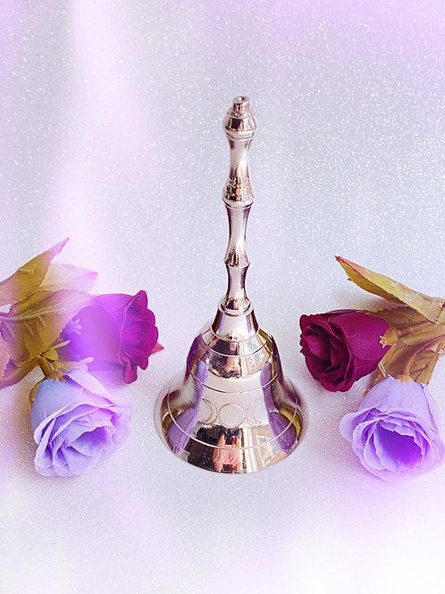Silver Triple Moon Altar Bell
