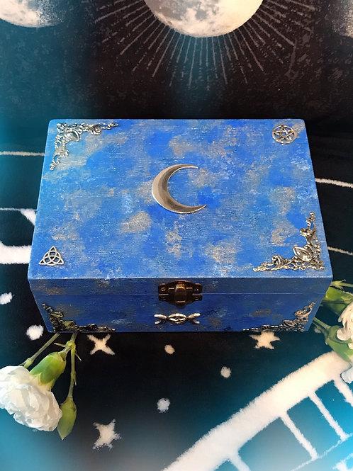Blue Lunar Witch Altar Box