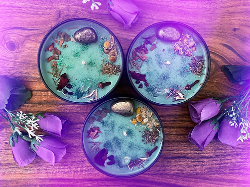 Faery Forest Crystal Candle