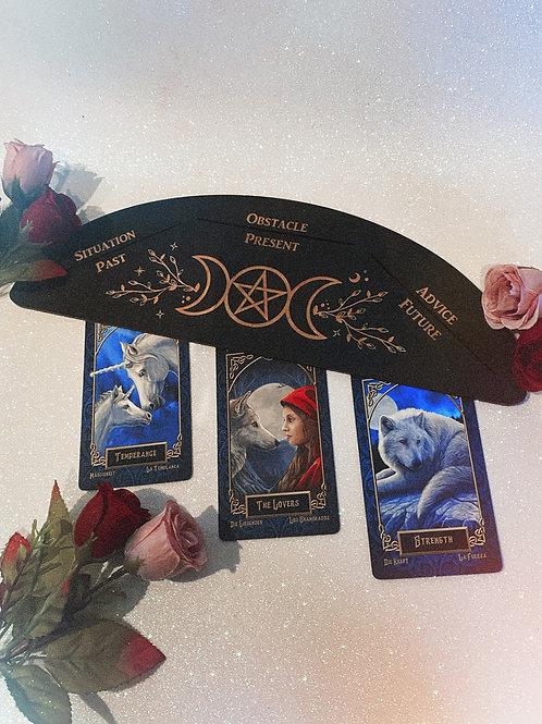Triple Goddess Three Tarot Card Stand