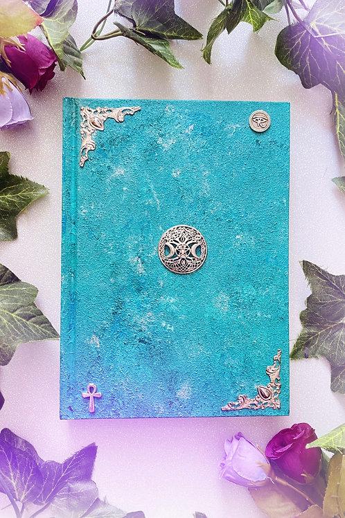 Witch Goddess Book of Shadows - Aqua