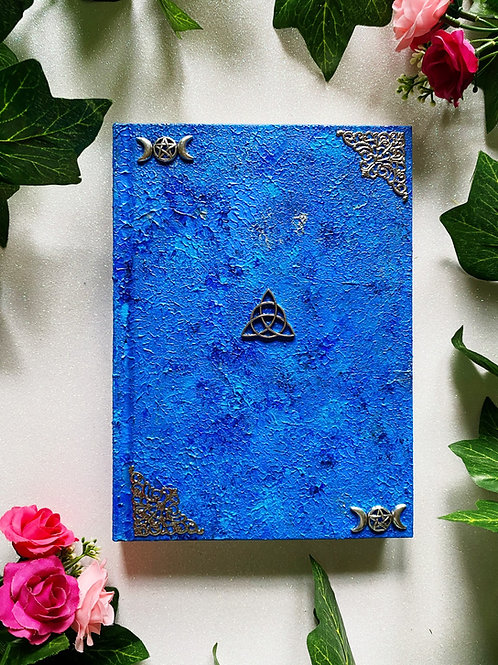 Triquetra Book of Shadows - Blue