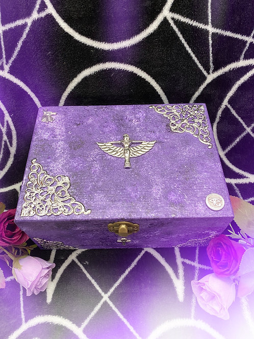 Purple Egyptian Witch Altar Box