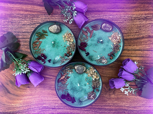 Faery Forest Crystal Candle - 9cm