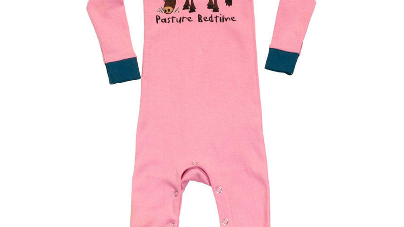 LazyOne Girls Pasture Bedtime Sleepsuit