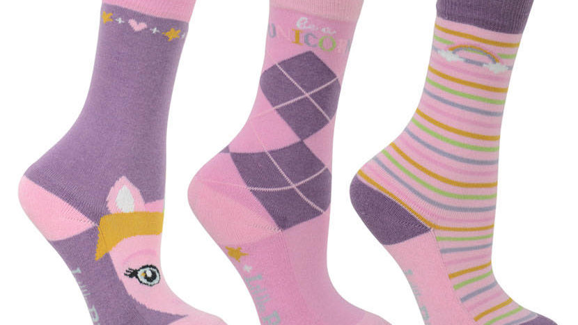 HyFASHION Little Unicorn Socks (Pack of 3)