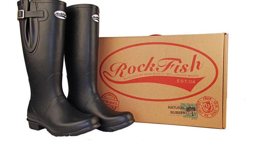 Rockfish Men's Classic Adjustable Calf Tall Matt Wellington