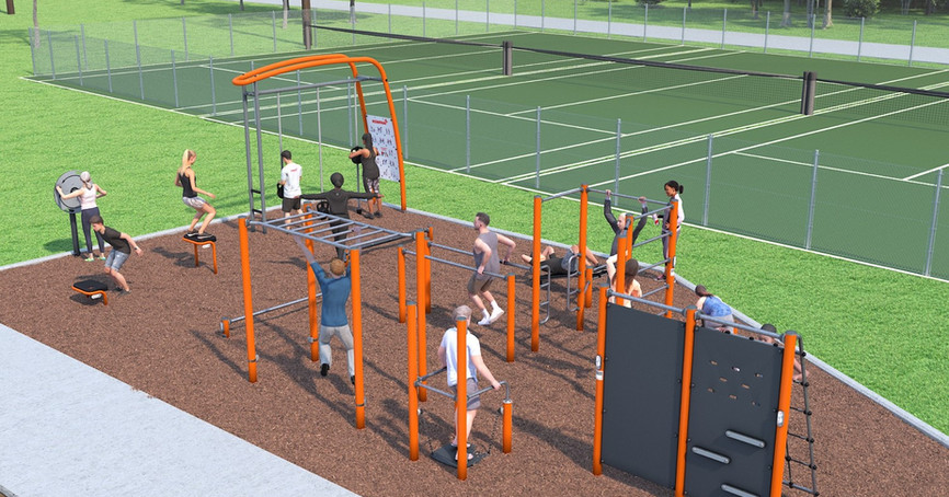 An overall view of the Fitness Park