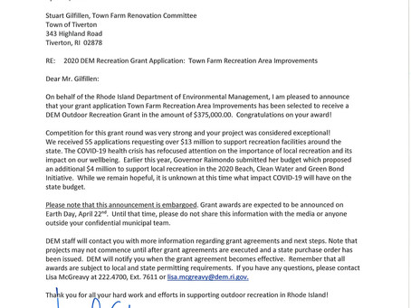 The grant application was accepted!