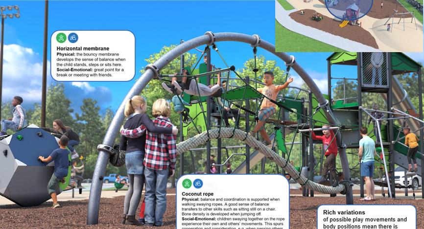 Age 5-12 Play Area: Suspension Arch Bridge