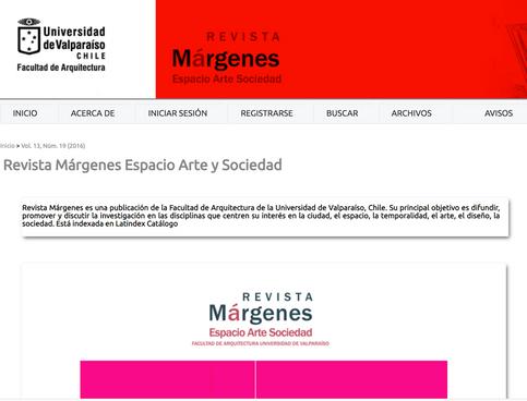 Revista Márgenes. Espacio-Arte-Sociedad