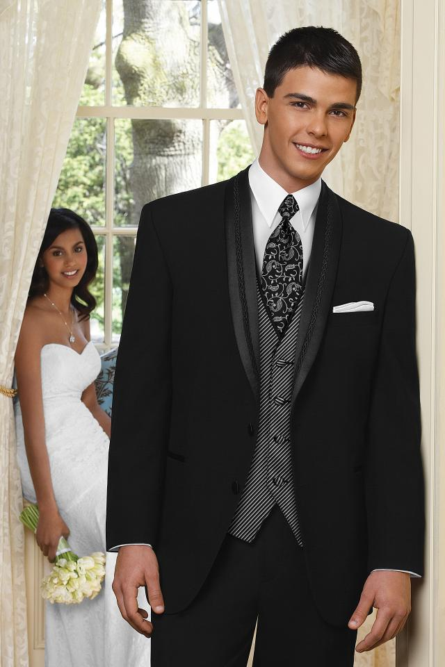 Black El Ray Wedding Tuxedo