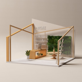 Booth design for The Botanik Plant Shop by 2xr Design
