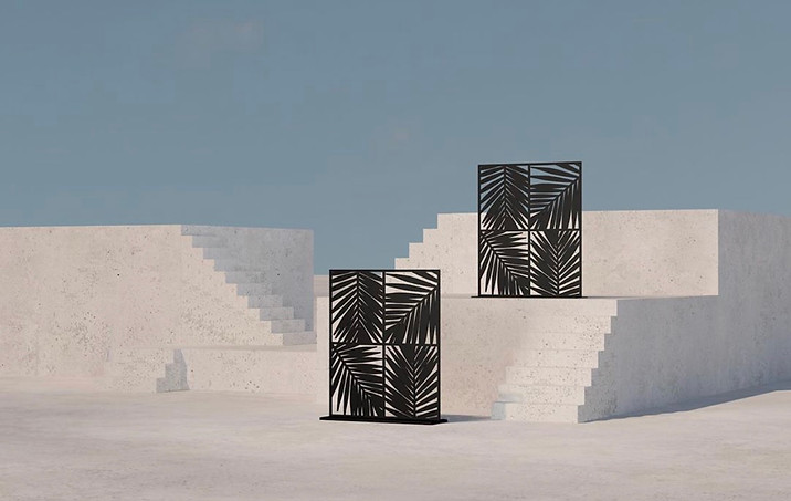Tropical Screen Designs for Destination Miami with Chrome Event Furnishing
