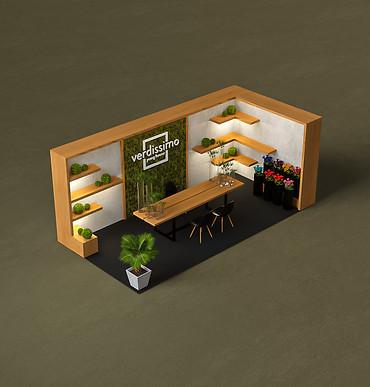 Booth design for Verdissimo by 2xr Design Miami