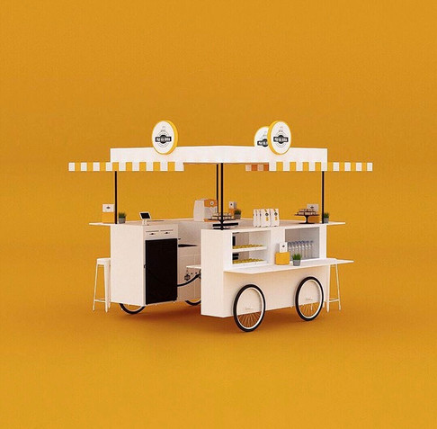 Food Bicycle Concept, Design and 3D for Pão na Roda in São Paulo, Brasil