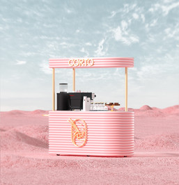 Corto Cafe Coffee Station Cart Design by 2xr Design