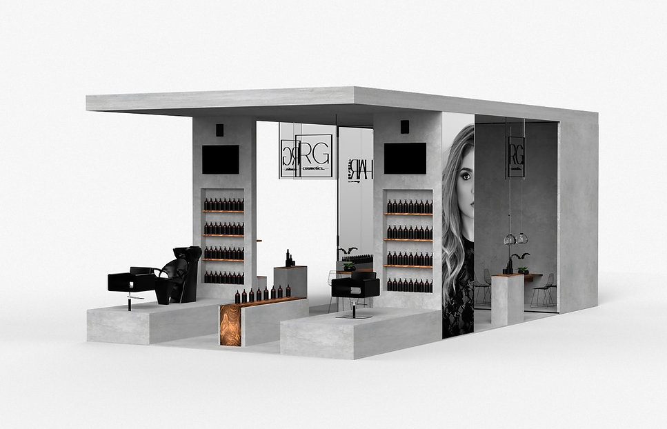 Booth Concept, design and rendering in M