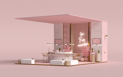 Booth design for Beaty Zone Kuwait