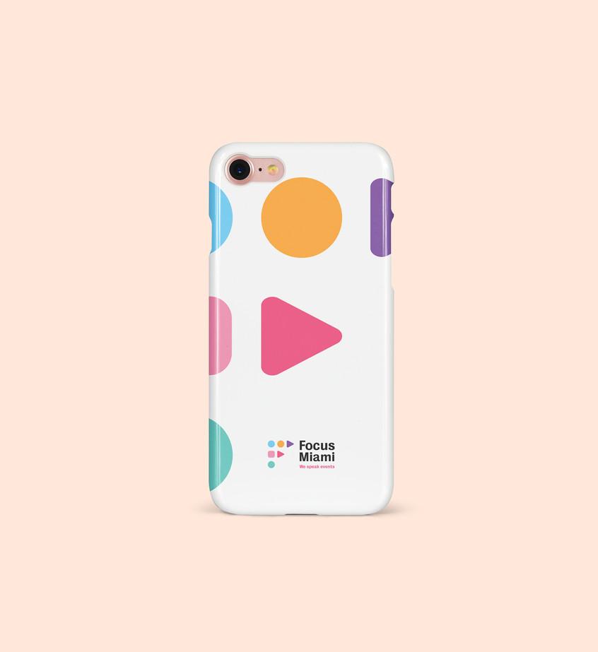Focus Miami Iphone Case by 2xr Design.jp