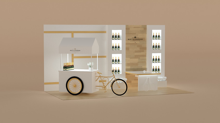 Booth design by 2xr Design for Moet Chandon