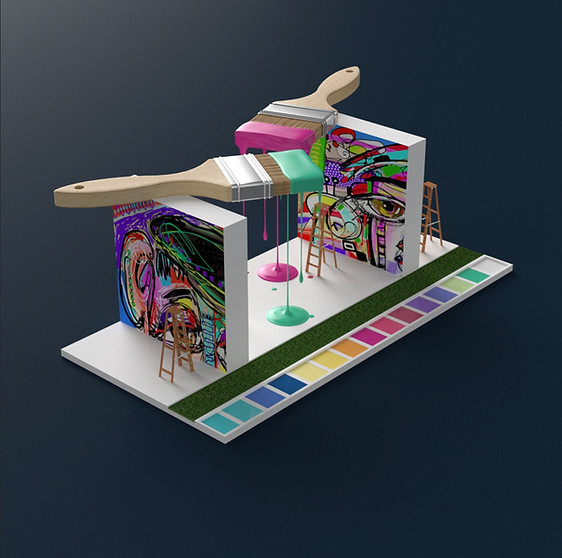 Booth design for Market Activations by 2xr Design