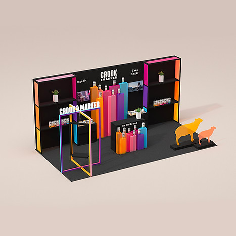 Booth design for Crook & Marker by 2xr Design Miami Florida