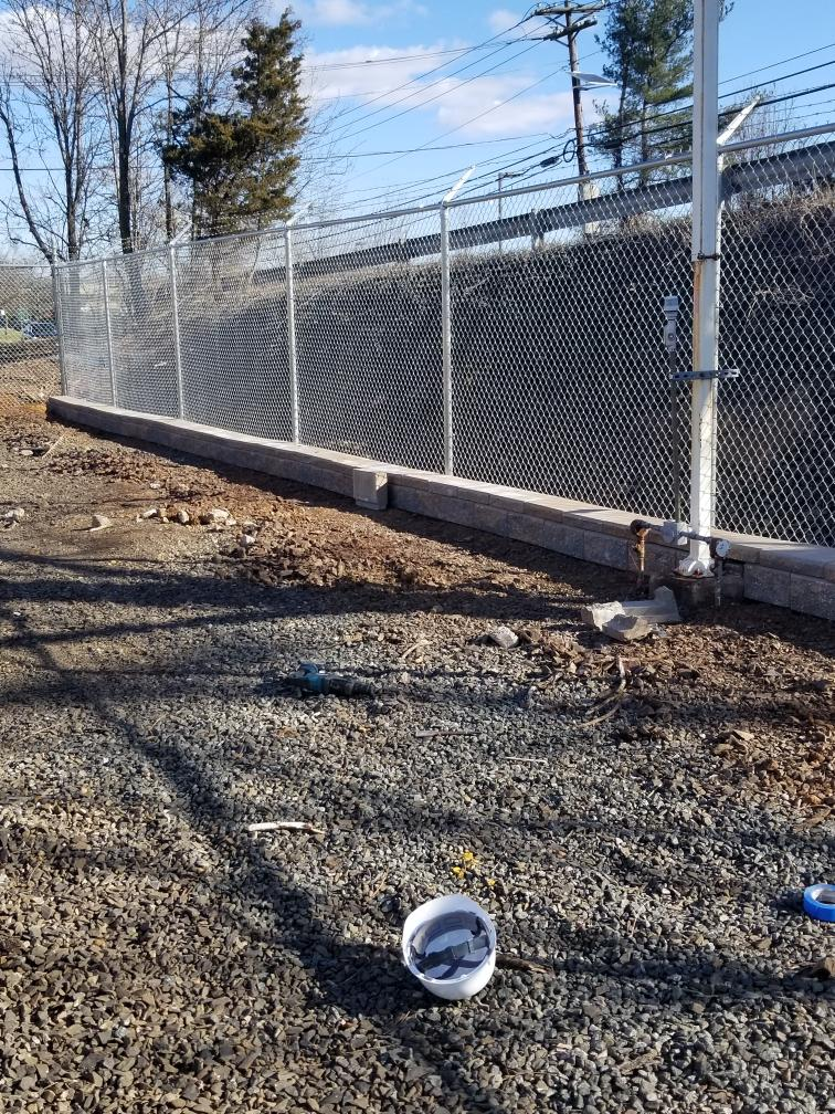 NEW FENCE - NEW RETAINING WALL