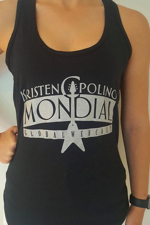 Kristen Capolino Mondial Silver on Black Tank - Women's