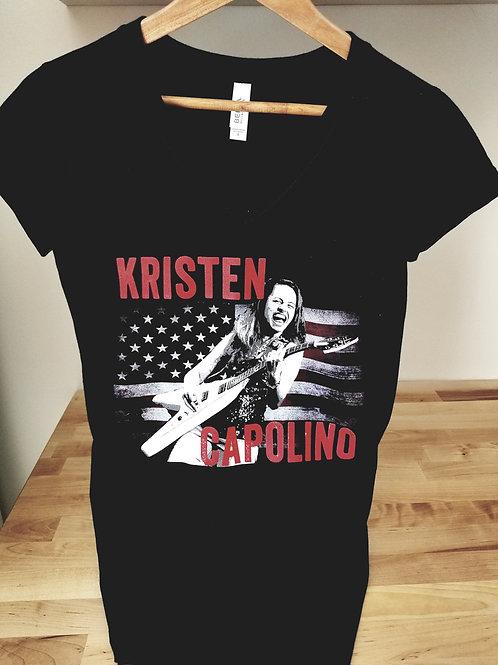 Ladies V-Neck Kristen Capolino Live Tee