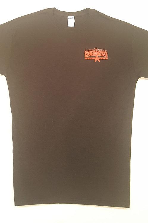 Kristen Capolino Mondial Orange on Black T-Shirt - Mens